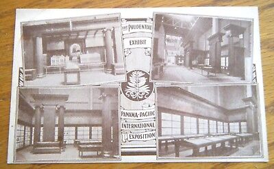 1915 Panama Pacific Exposition Prudential Insurance Co Postcard Sized Card