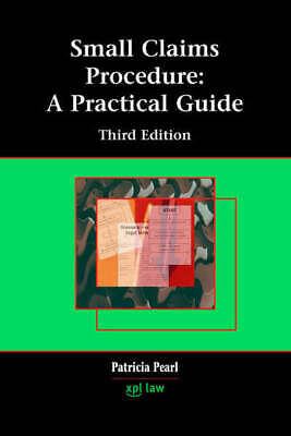 Small claims procedure: a practical guide by Patricia Pearl (Paperback /