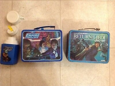 The Empire Strikes Back 1980 Metal Lunch Box W/ Thermos Return Of The Jedi 1983