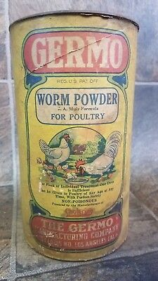 100 Year Old Germo Worm Powder for Poultry Medicine. Excellent Graphics