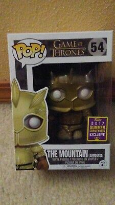 Funko Pop Game of Thrones The Mountain Armoured 2017 Summer Con Exclusive