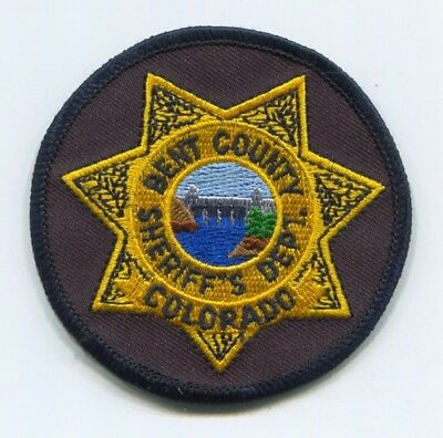 Bent County Sheriffs Office Department Patch Colorado Co. Dept. Police Patches