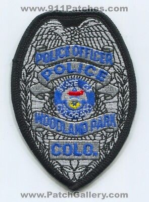 Woodland Park Police Department Officer Patch Colorado Co Used Sheriffs Office