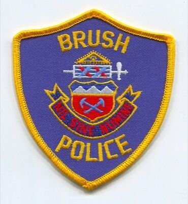 Brush Police Department Patch Colorado Co Dept. Sheriffs Office Patches New