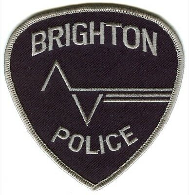 Brighton Police Department Patch Colorado Co Dept. Pd Sheriff's Sheriffs Office