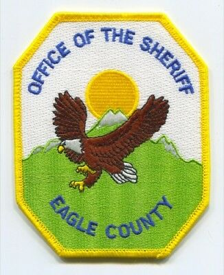 Eagle County Sheriffs Office Patch Colorado Co. Police Department Dept. Of The