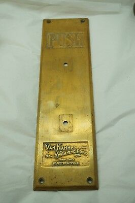 ANTIQUE PUSH PLATE REVOLVING DOOR COMMERCIAL HARDWARE ARCHITECTURAL SALVAGE b