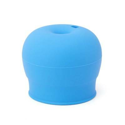 Silicone Spill-Proof Sippy Cups Straw Lids Glassware Lid Cup Straw Covers Blue