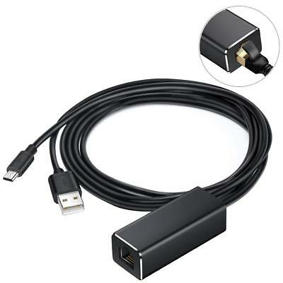 LAN Ethernet Adaptor For Fire TV Stick Chromecast Hubs Micro USB Cables To RJ45