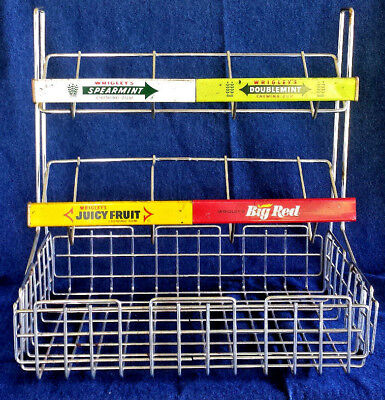 VINTAGE WRIGLEY CHEWING Gum Counter Top Store Display Wire Rack Fascinating Wrigley's Chewing Gum Display Stand