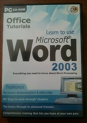Microsoft Office Word 2003: Complete Tutorial.