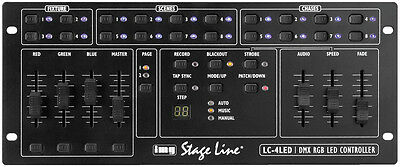 img StageLine LC-4LED professioneller RGB LED DMX Controller PA Licht TOP