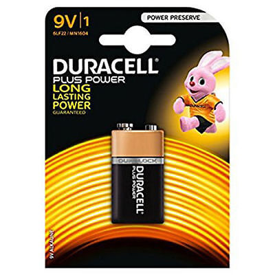 DURACELL 9v PP3 MN1604 PLUS POWER BATTERY