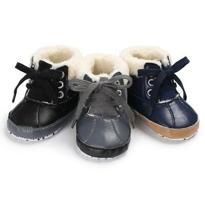 Baby Girl Boy Shoes Snow Boots Toddler Infant PU Waterproof Booties Winter US