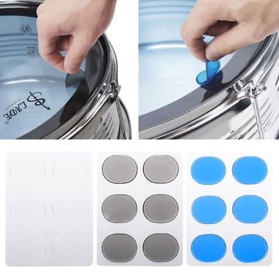 6 Pcs Drum Mute Pad Silicon Gel Muffler Percussion Instrument Silencer Accessory