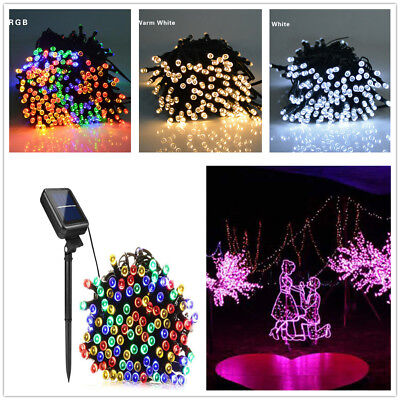 200 LED Bright Solar Power Fairy Lights String Outdoor Party Wedding Christmas
