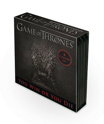 Game Of Thrones - 4 Coaster Set - Trono Di Spade - Set Di Sottobichieri