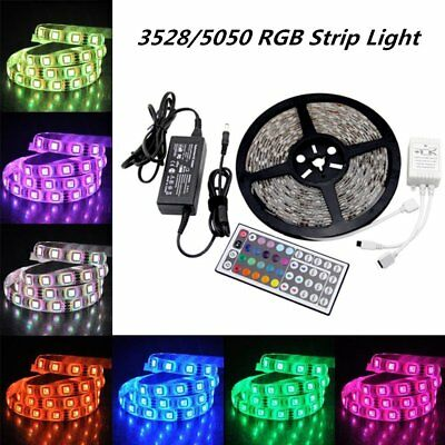 Waterproof 5-20M Self Adhesive LED Strip Lights Adapter SMD Rope Xmas Home Decor