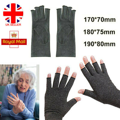 Anti Arthritis Finger Hand Compression Cotton Gloves Brace Support Pain Relief