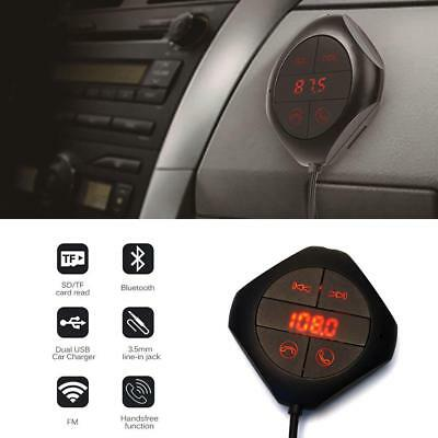 Handsfree Wireless FM Transmitter Bluetooth Car USB LCD MP3 Player Magnet new bc