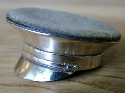 Ww1 Period Officer Hat Cap Novelty Pin Cushion Antique Silver No Reserve