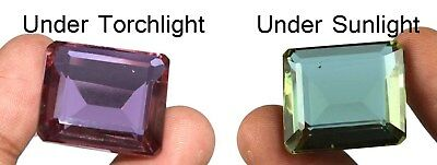 Alexandrite Loose Gemstone Color Changing 60.05 Ct Emerald Cut Certified B4192