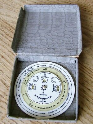 Boxed Antique Negretti & Zambra Pocket Sea Level Shipping Forecaster Barometer