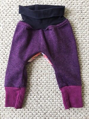 Oishi M 3-6 Months Girls Floral Flowers Purple Pants Baby 00