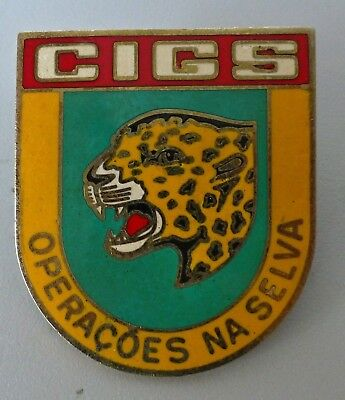 Brazil South America Jungle Commando Special Forces Animal Old Cigs Breast Badge