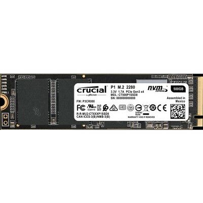 Crucial Client 500 GB Solid State Drive - PCI Express (PCI Express 3.0 x4) - Int