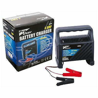 Pro User 4 Amp Car Van Lorry Battry Charger Starter Booster