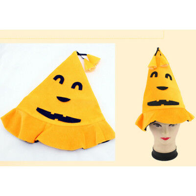 Halloween Pumpkin Witches Hat Party Fancy Dress Cosplay Prop For Kids Adult 6A