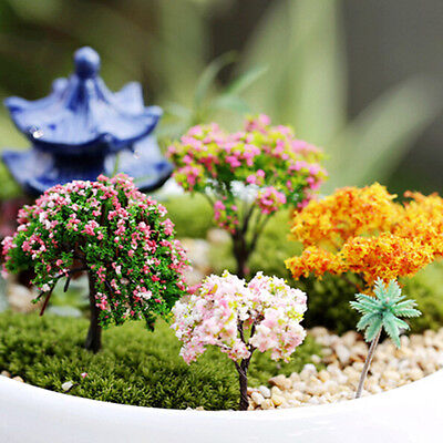 1/6 Miniature Tree DIY Ornament Decor Craft Fairy Garden Dollhouse Plant Pot MC