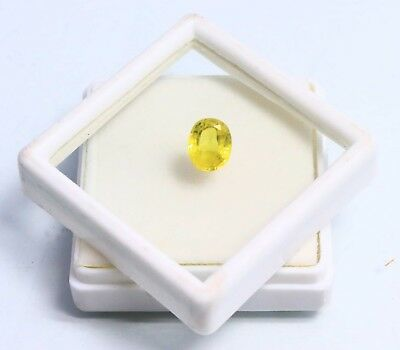 2.50 Ct EGL Certified Natural Yellow Sapphire Superior Oval Shape Gemstone BN792