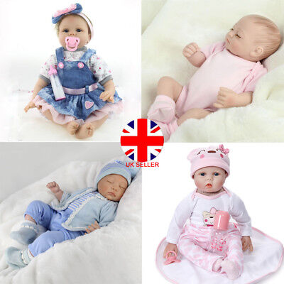 "11"" 22"" 26"" Solft Vinyl Silicone Reborn Real Life Like Looking Newborn Baby Doll"
