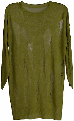 LOOP TAUPE 36-42 NEU ITALY WARMER OVERSIZE MOHAIR GROB STRICK PULLOVER
