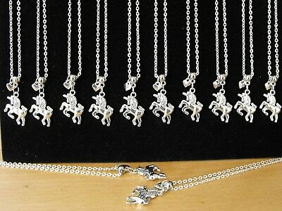 Wholesale Jewellery 12 Unicorn And Heart Necklaces, Gift, Party Bags Job Lot.
