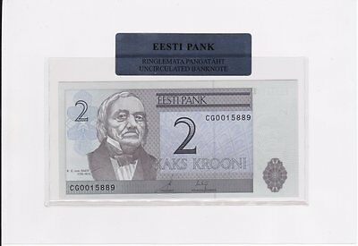 ESTLAND: 2 Krooni 2006 -- UNC in Folder