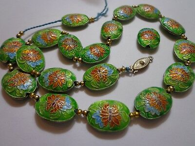 Antique Chinese Export Cloisonne Enamel Loose Beads Sold As Parts