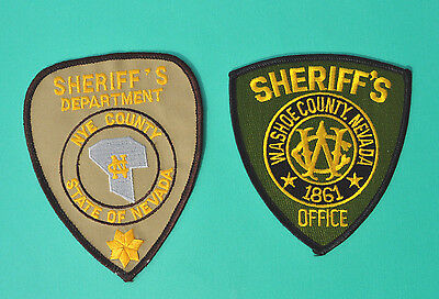 Nevada Sheriff Dept Patches Washoe County Sheriff NYE County Sheriff Patch