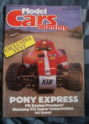 Model Cars Monthly Magazine - July 1986 - PB Mustang Xi2