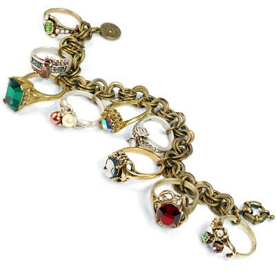SWEET ROMANCE Antique Style Rings Charm Bracelet FREE SHIPPING NWT