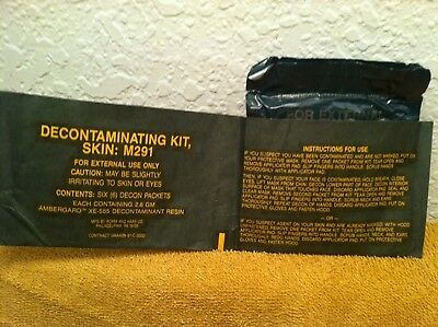 Military M291 Skin Decontamination Kit - Wallet Style