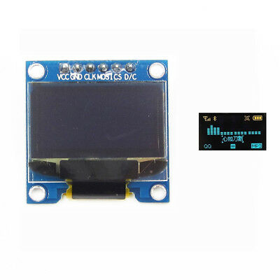 """Yellow Blue 0.96"""" SPI Serial 128X64 OLED LCD LED Display Module"""