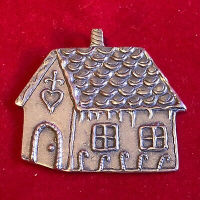Hand & Hammer Sterling Silver GINGERBREAD HOUSE Ornament With ORIGINAL BOX