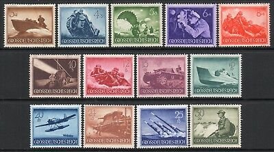 GERMANY 3rd REICH 1944 Armed Forces & Heroes Fine MINT NH Set