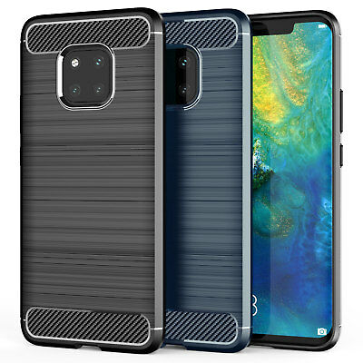 Huawei Mate 20 / 20 Pro Carbon Fibre TPU Silicone Gel Case Best Protection Cover