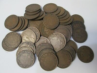 Lot of 50 1917 Canada Large Canadian Cent Coins