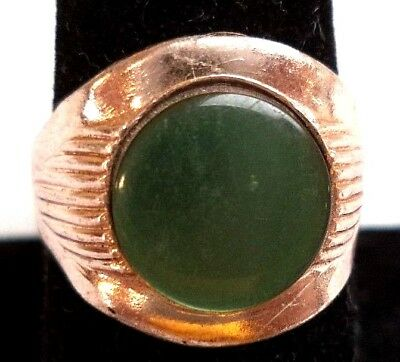 Stunning Vintage Estate Signed Hong Kong Moonglow Stamped Adjustable Ring! 5038Z