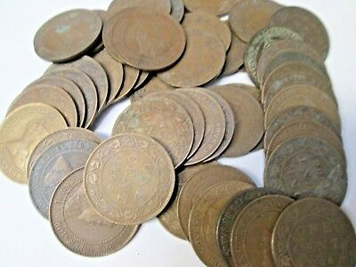 Lot of 50 1906 Canada Large Canadian Cent Coins